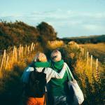 Volontaires à la campagne en Irlande